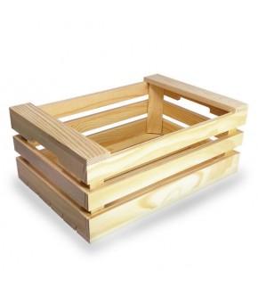 Cassetta in legno 3 stecche per pane o aperitivi
