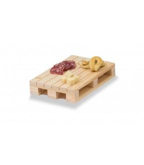 Mini pallet tagliere in legno naturale