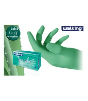 Powder free latex gloves with aloe vera walking