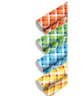 Tovaglie in carta scozzesi a rotolo vari colori
