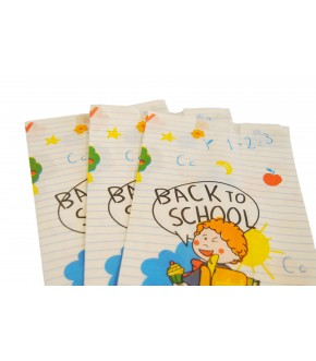 SACCHETTI IN CARTA BIANCHI - BACK TO SCHOOL