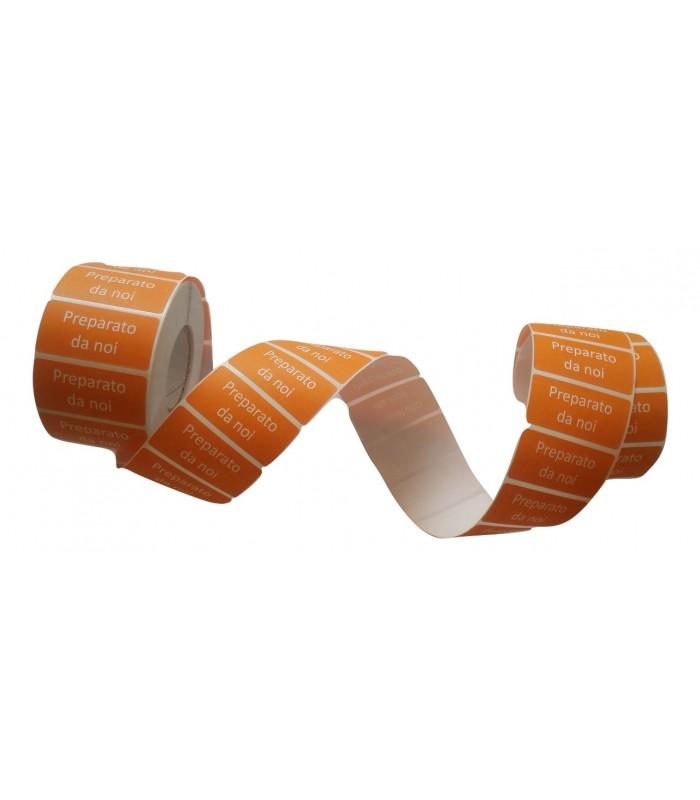 Etichetta adesiva arancione da 1500 pz