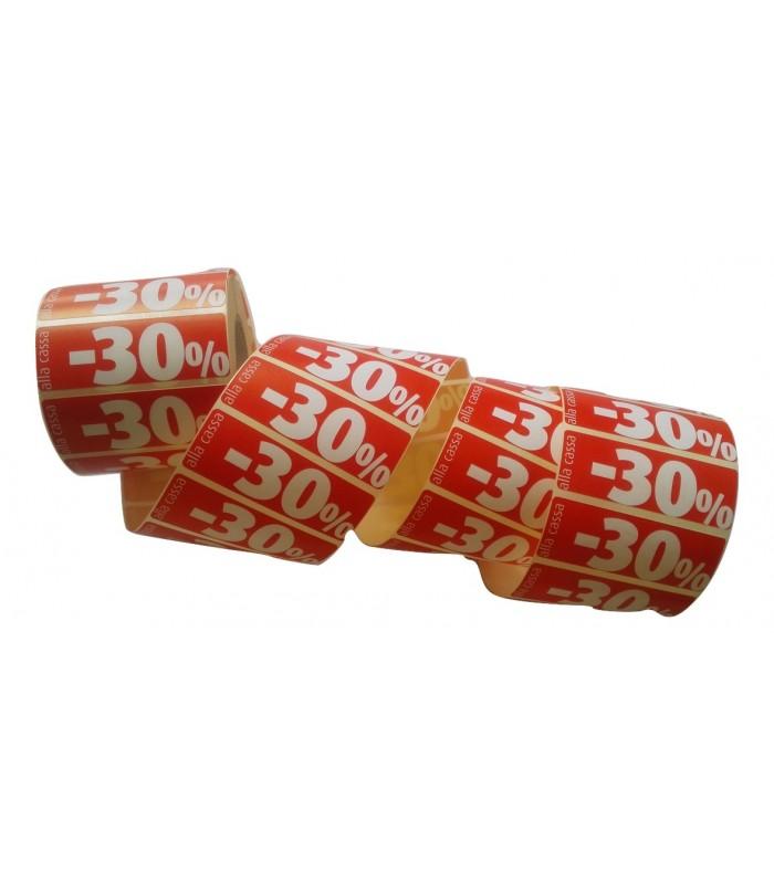 Etichetta adesiva rossa da 1000 pz