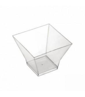 Coppetta in plastica trasparente a forma di pagoda monoporzione