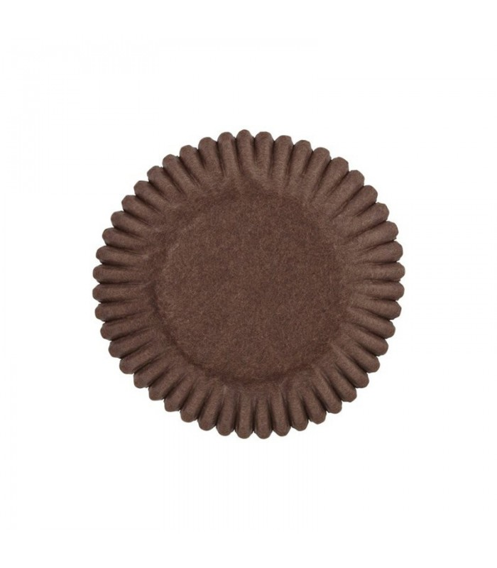 Pirottino rotondo in carta marrone per pasticcini