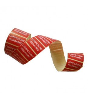 "Roll laber red sticks for discount ""CONFEZIONE RISMARMIO"""
