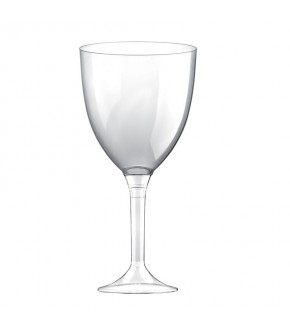 Stackable plastic wine glass