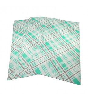 Tovaglie in carta accoppiata scozzesi verdi 100 x 100 cm