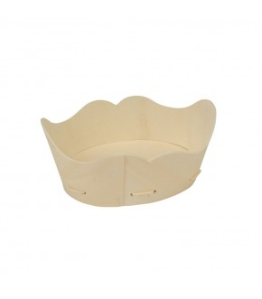 Poplar wood wave shape plate