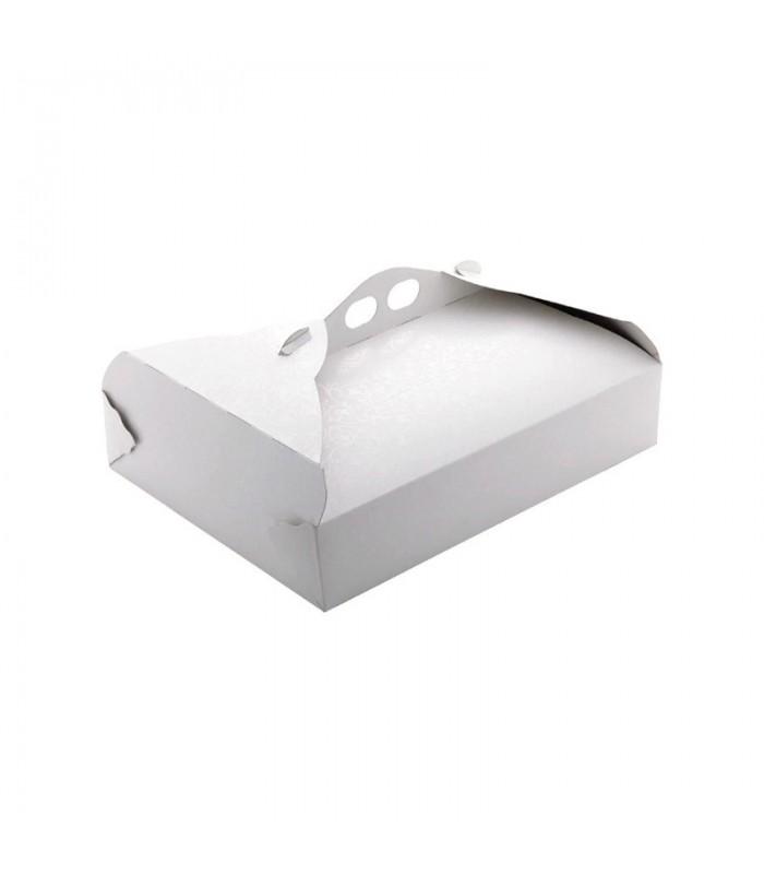 Scatola porta paste in cartoncino bianco stampa ramage