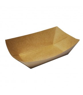 Rectangular food paper tray anti grease