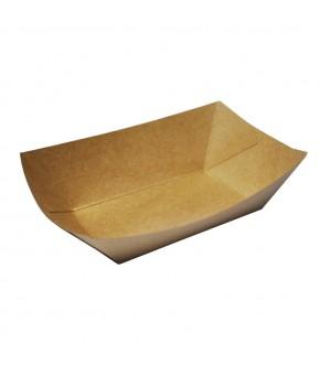 Vassoio antigrasso rettangolare in cartoncino per cibi fritti