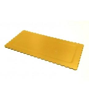 Vassoio in cartone rettangolare colore oro