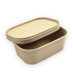 CONTENITORE FOOD BOX IN CARTONCINO AVANA CON COPERCHIO