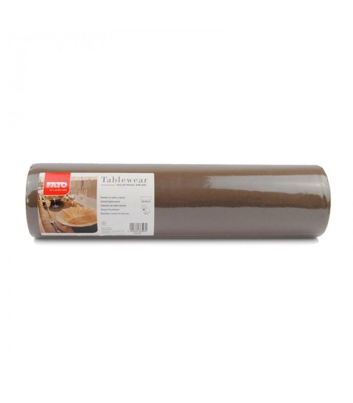 Tovaglia runner in carta a secco pretagliata - col. cacao