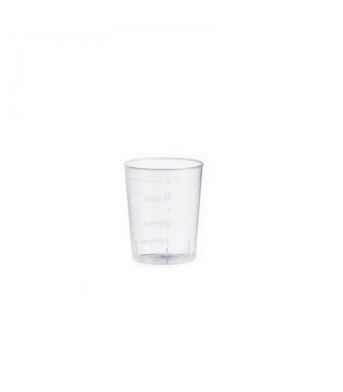 Bicchierino conico trasparente in plastica per degustazione