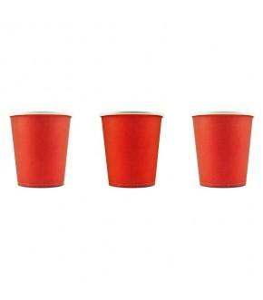 BICCHIERE CAFFE' IN CARTONCINO ROSSO - 80 ml