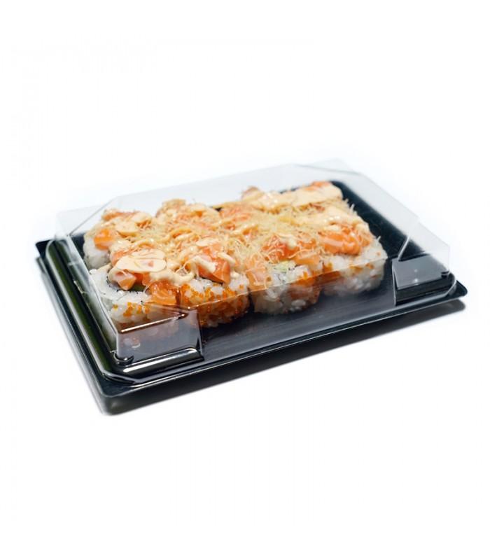 Vaschette con coperchio per asporto sushi