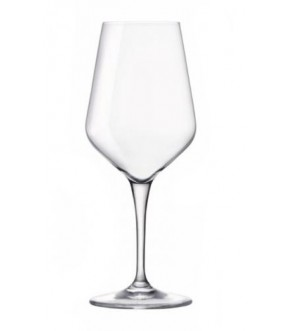 Clear reusable plastic wine glass