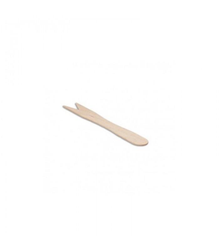Forchettina in legno a due punte, 100% biodegradabile