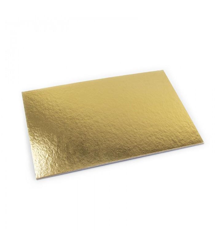 Stecche sottotorta rettangolari in cartone oro/nero in varie misure