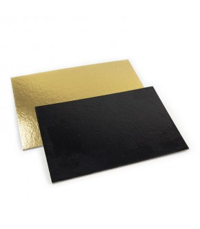 copy of Gold and black square cake board
