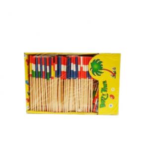 Stuzzicadenti rotondi in legno linea party vintage