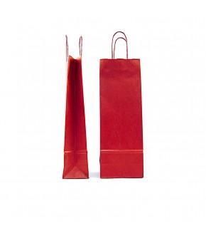 Buste in carta colorate per bottiglie di vino con manico in cordino ritorto
