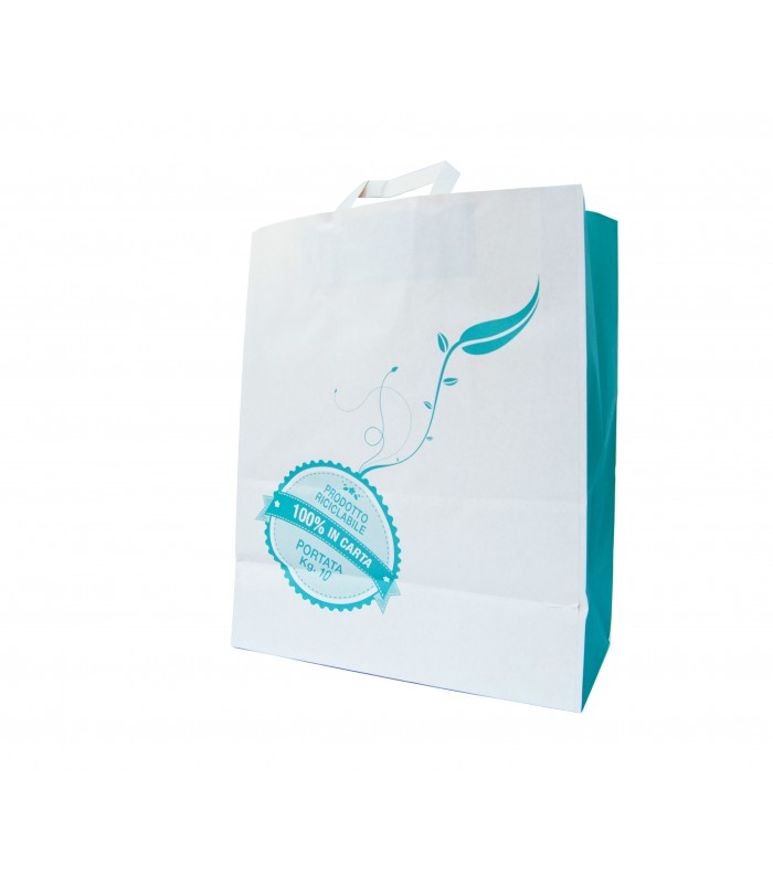 Busta in carta bianca 100% riciclabile, stampa neutra