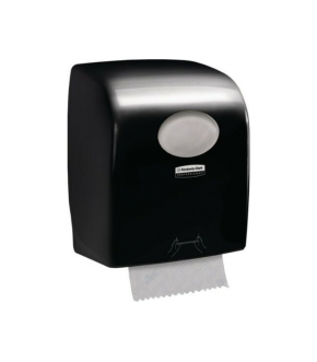 Dispenser asciugamani Kimberly-Clark Professional Aquarius Slimroll Nero