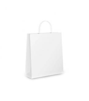 Busta in carta con manico ritorto - Bianco o Avana