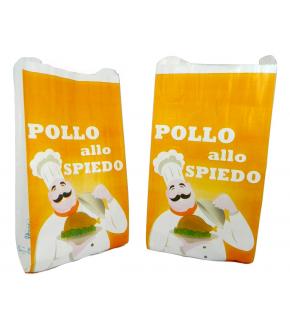 Sacchetti pollo in carta foderati e stampati