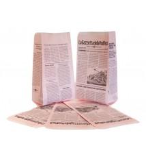 Sacchetti in carta rosa antigrasso modello giornale, stampato con ricette da cucina
