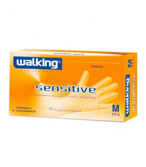 WALKING SENSITIVE - GUANTI IN LATTICE CON POLVERE MONOUSO