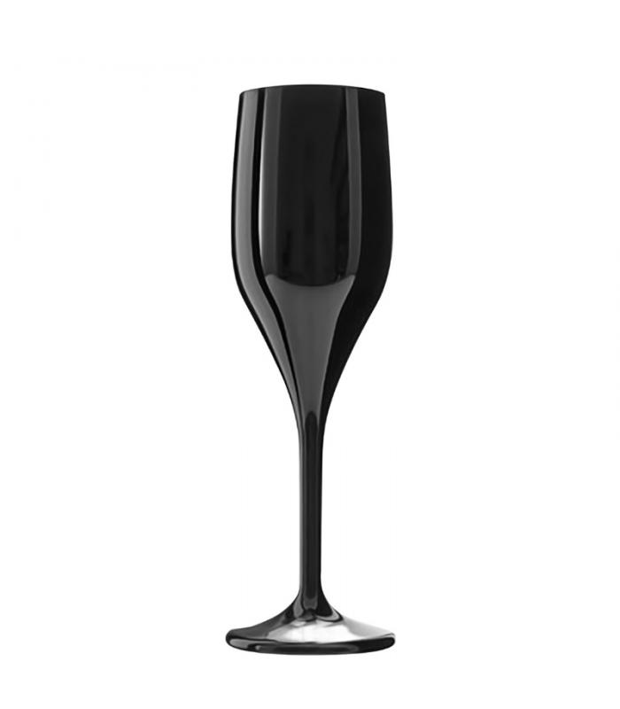 Bicchiere flute nero 150 cc