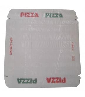 Scatola cubo per pizza, 100% vegetale, in vari formati
