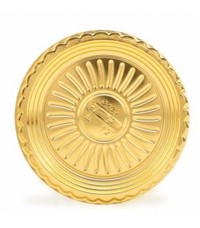Gold round plastic cake board OROTONDO