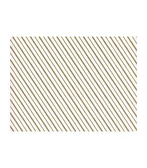 Carta pelleaglio fondo bianco con righe oro per alimenti