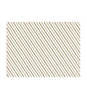 White pelleaglio paper with golden lines
