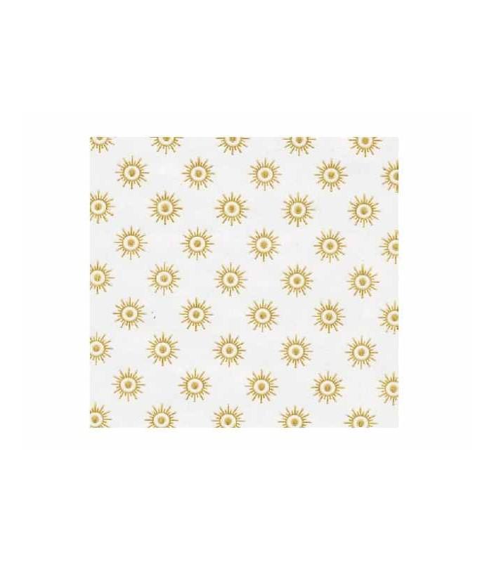 Carta pelleaglio fondo bianco con stelline oro per alimenti