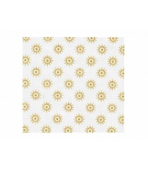White pelleaglio paper with golden stars