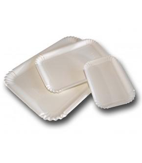 Vassoi in cartone bianco