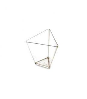 Clear triangular plastic bowl Goldplast