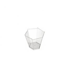 Clear plastic bowl Goldplast  Gardenia hexagonal shape