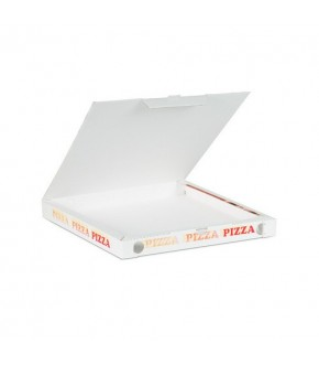 Corrugated paper pizza box with lid