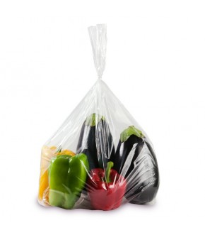 Clear tear off food bag in PLT