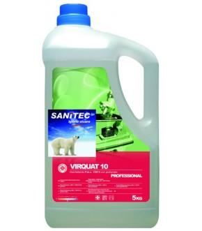 Disinfettante detergente non profumato, azione contro batteri, virus, muffe e funghi VIRQUAT 10