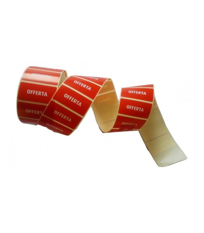 """Rotolo etichetta adesiva """"OFFERTA"""" da 1500 pz"""