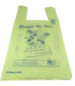 Compostable and biodegradable shopper mater-bi