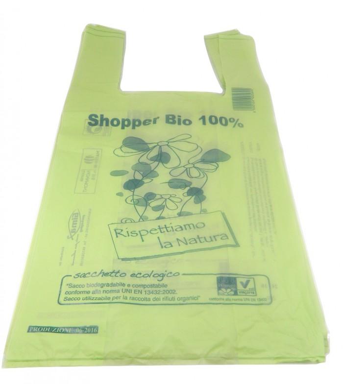 Buste shoppers mater-bi 100% biodegradabili e compostabili